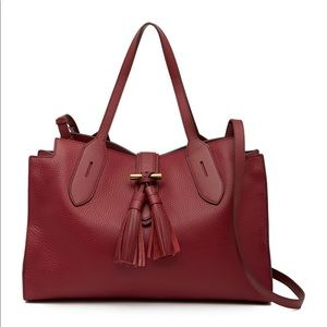 Anne Klein Toggle leather tote